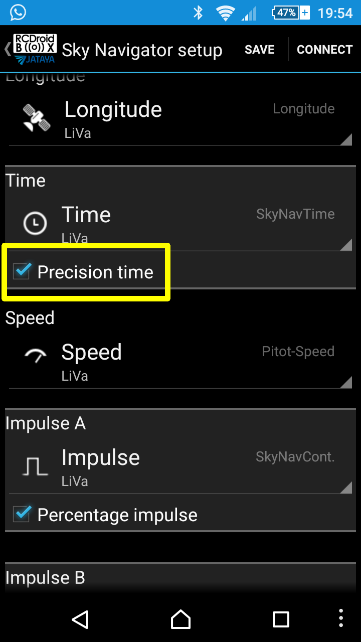 Precision Time Settings